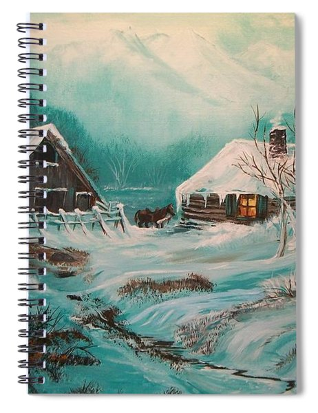 Icy Twilight Spiral Notebook