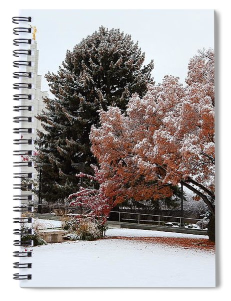 Idaho Falls Temple Winter Spiral Notebook