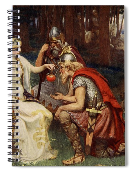 Idun And The Apples, Illustration Spiral Notebook