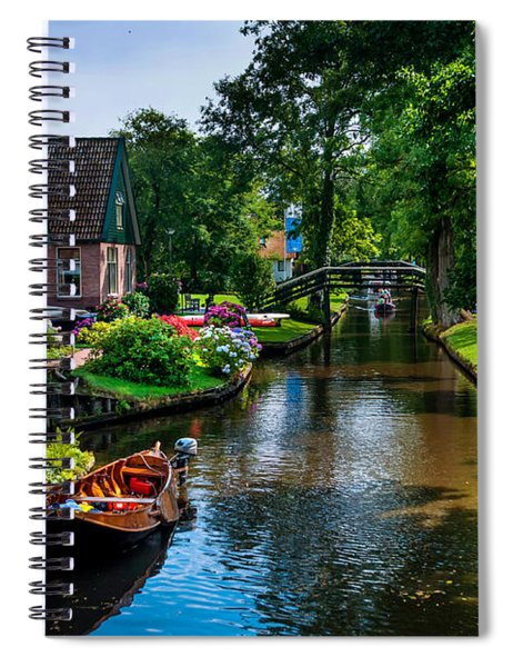 Idyllic Village 15. Venice Of The North Spiral Notebook