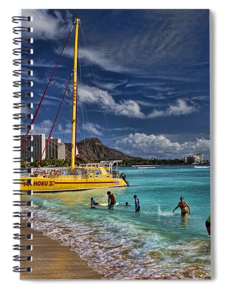 Idyllic Waikiki Beach Spiral Notebook