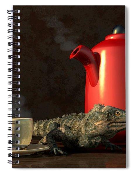 Iguana Coffee Spiral Notebook