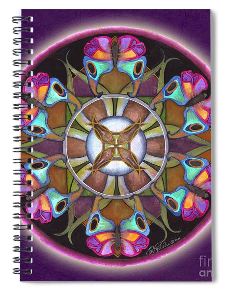 Illusion Of Self Mandala Spiral Notebook