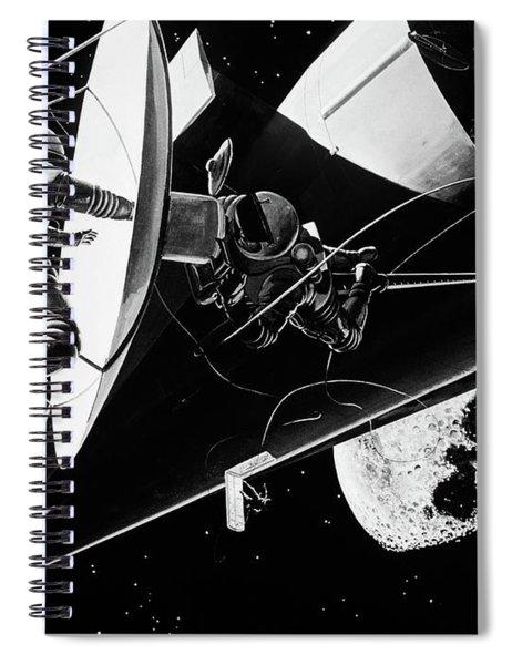 Illustration 1960s Weightless Spiral Notebook