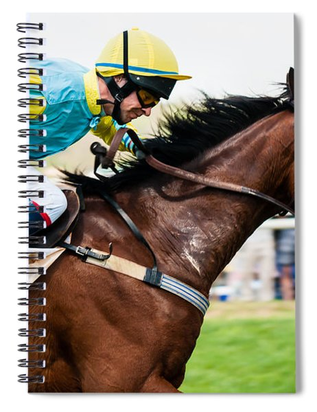 Spiral Notebook featuring the photograph I'm Getting There by Robert L Jackson