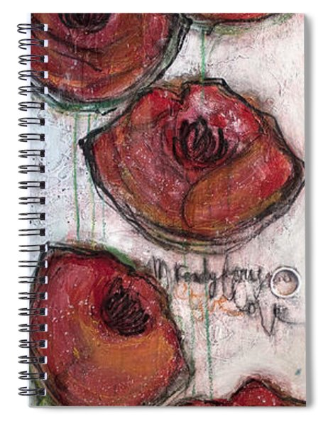 Im Ready For Your Love Poppies Spiral Notebook
