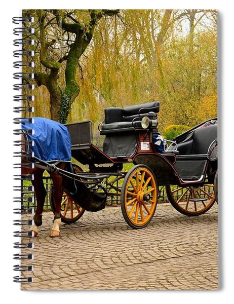Immaculate Horse And Carriage Bruges Belgium Spiral Notebook