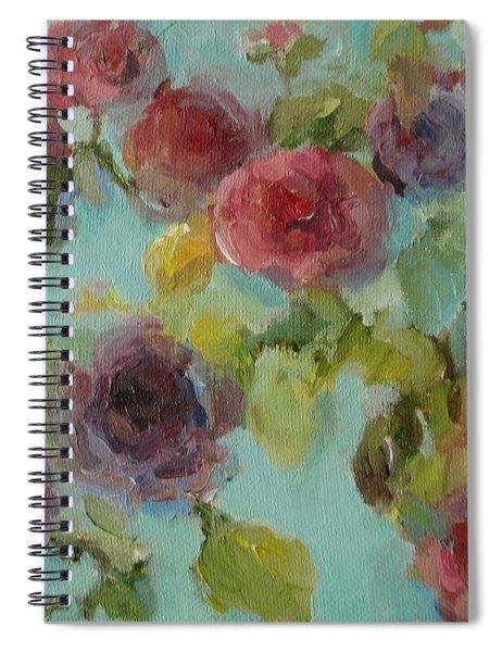 Impressionist Floral  Spiral Notebook