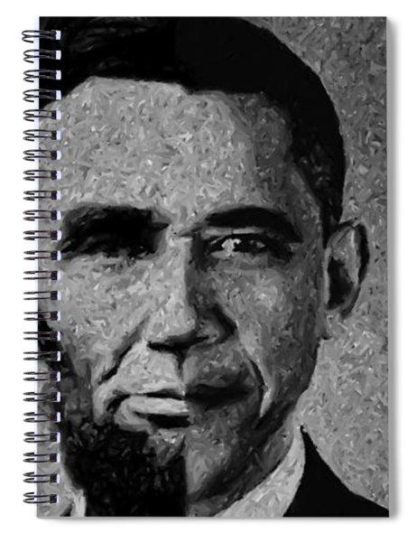 Impressionist Interpretation Of Lincoln Becoming Obama Spiral Notebook