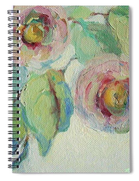 Impressionist Roses  Spiral Notebook
