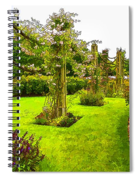 Impressions Of London - Queen Mary's Garden At Regent's Royal Park Spiral Notebook