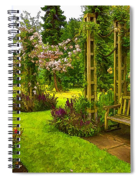 Impressions Of London - Queen Mary's Rose Garden Spiral Notebook