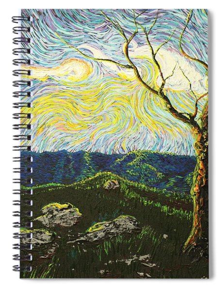 In Between A Rock And A Heaven Place Spiral Notebook