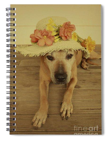 In Her Easter Bonnet Spiral Notebook