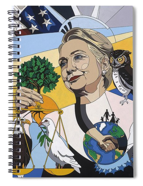 In Honor Of Hillary Clinton Spiral Notebook