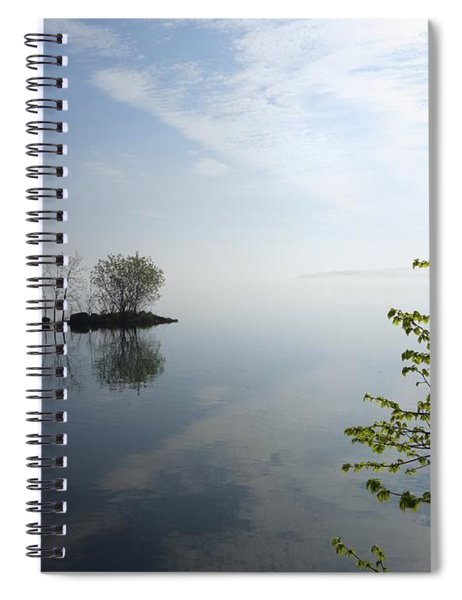 In The Distance On Mille Lacs Lake In Garrison Minnesota Spiral Notebook