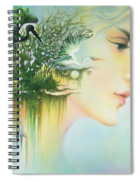 In The Fluter Of Wings-in The Silence Of Thoughts Spiral Notebook