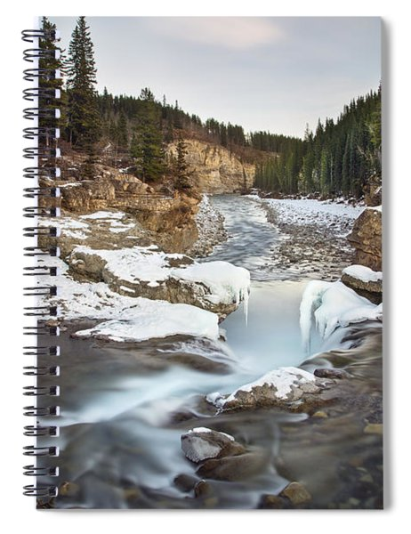 In The Frosty Forests Spiral Notebook