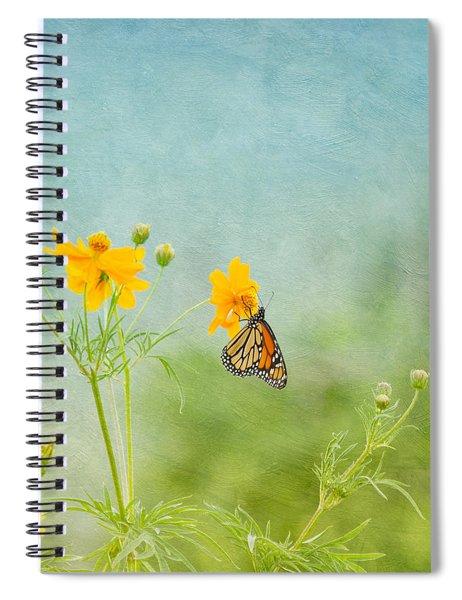 In The Garden - Monarch Butterfly Spiral Notebook
