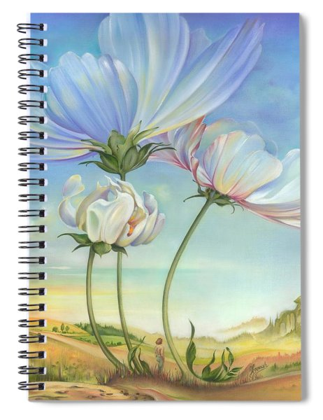 In The Half-shadow Of Wild Flowers Spiral Notebook