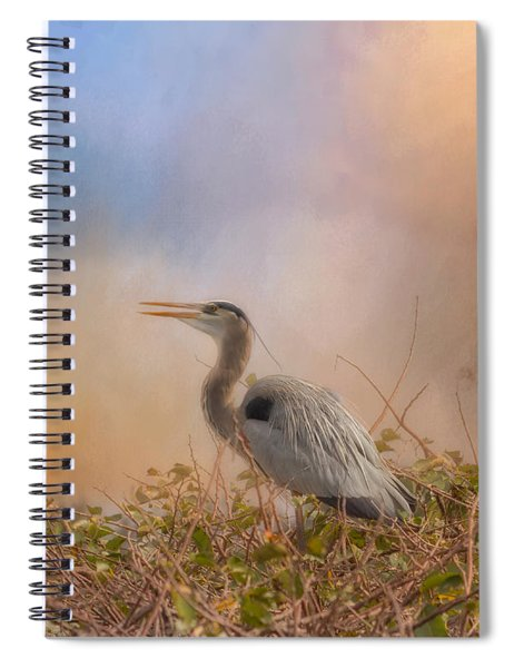 In The Nest - Great Blue Heron Spiral Notebook