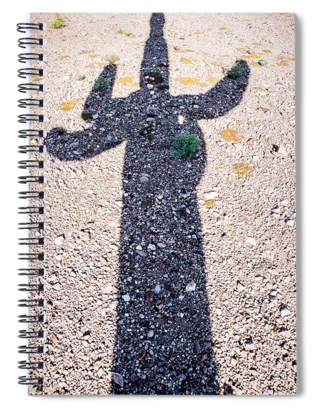 In The Shadow Of A Saguaro Cactus Spiral Notebook