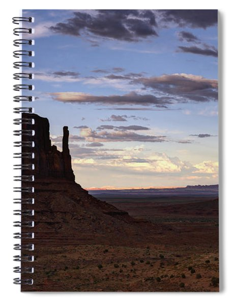 In The Shadows Of Monument Valley  Spiral Notebook
