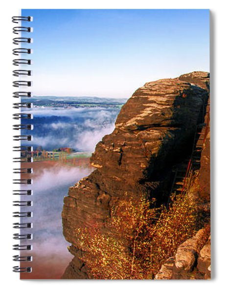 In The Sun Glowing Rock On The Lilienstein Spiral Notebook