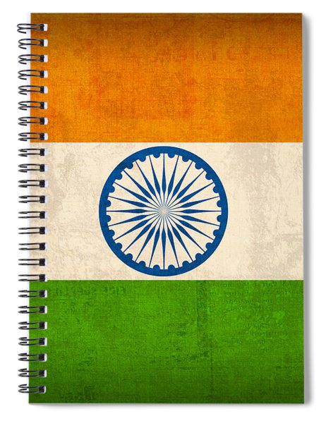 India Flag Vintage Distressed Finish Spiral Notebook