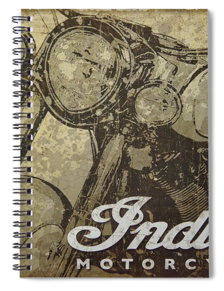 Indian Motorcycle Poster Spiral Notebook