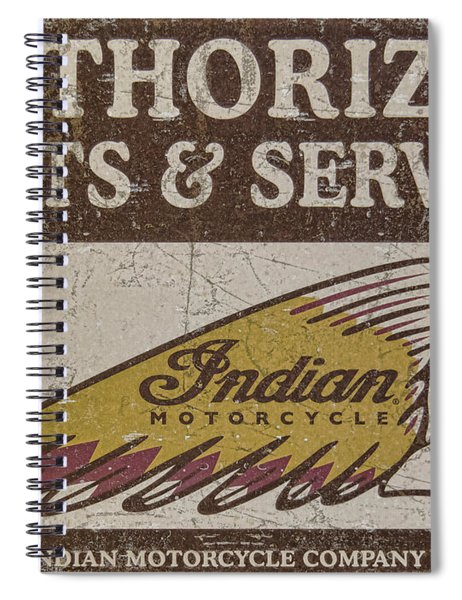 Indian Motorcycle Sign Spiral Notebook