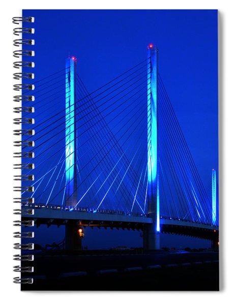 Indian River Bridge At Night Spiral Notebook