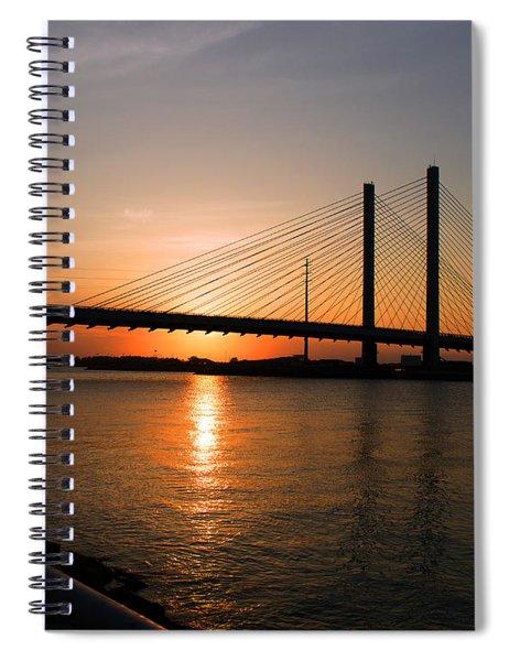 Indian River Bridge Sunset Reflections Spiral Notebook