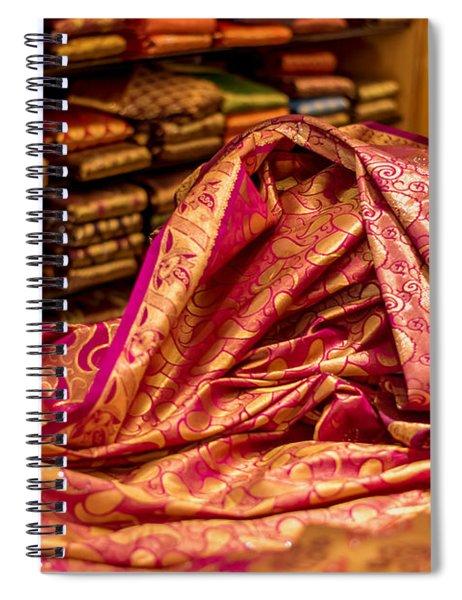 Indian Saree Spiral Notebook