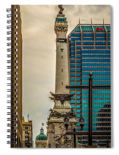 Indiana - Monument Circle With State Capital Building Spiral Notebook