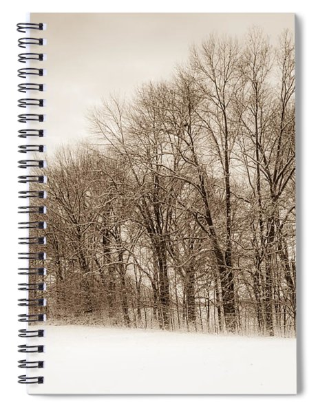 Indiana Winter At Freedom Park - Horizontal Spiral Notebook