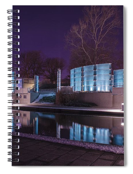 Indianapolis Canal Walk Medal Of Honor Memorial Night Lights Spiral Notebook