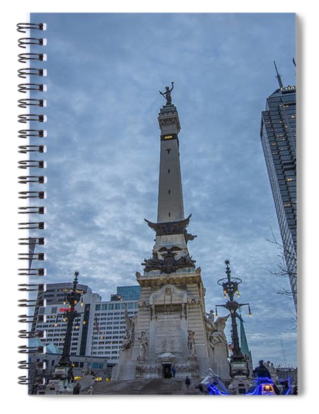Indianapolis Indiana Monument Circle Blue  Spiral Notebook