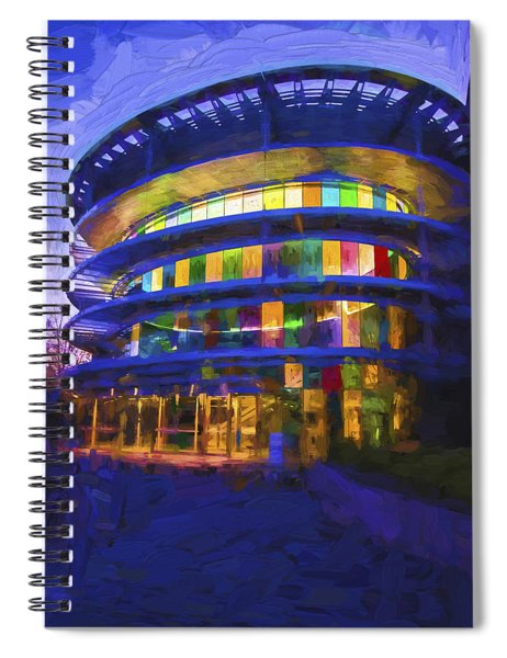 Indianapolis Indiana Museum Of Art Painted Digitally Spiral Notebook