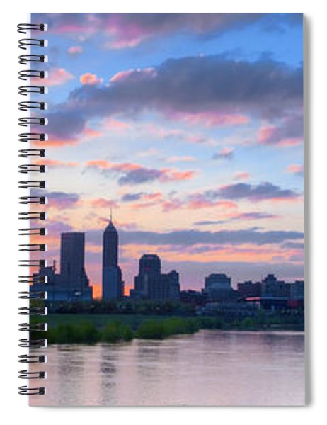 Indianapolis Indiana Sunrise Panoramic Hdr Spiral Notebook
