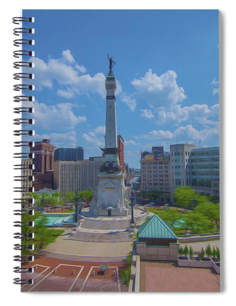 Indianapolis Monument Circle Oil Spiral Notebook