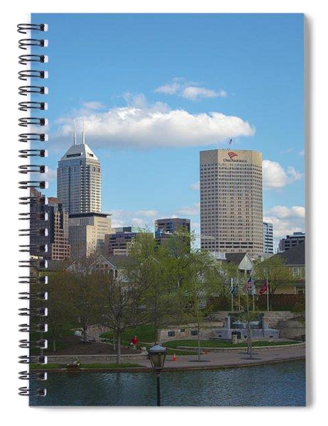 Indianapolis Skyline Blue 2 Spiral Notebook