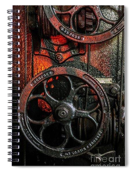 Industrial Wheels Spiral Notebook