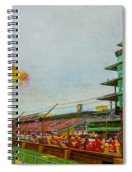 Indy 500 May 2013 Race Day Start Balloons Spiral Notebook