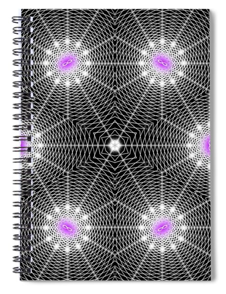 Infinity Grid Six Spiral Notebook