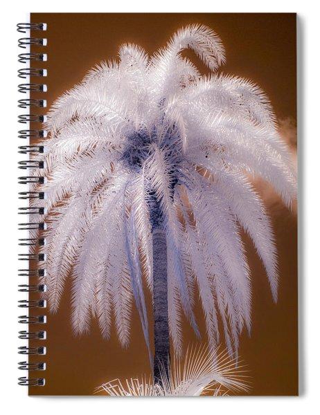 Infrared Palm Tree Spiral Notebook