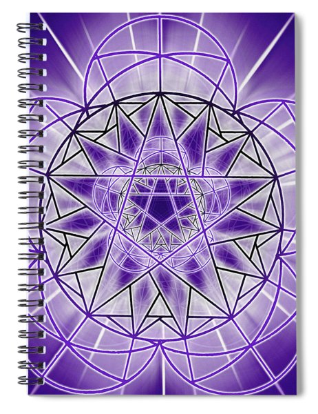 Spiral Notebook featuring the drawing In'phi'nity Star-map by Derek Gedney