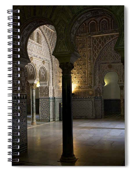 Spiral Notebook featuring the photograph Inside The Alcazar Of Seville by Lorraine Devon Wilke