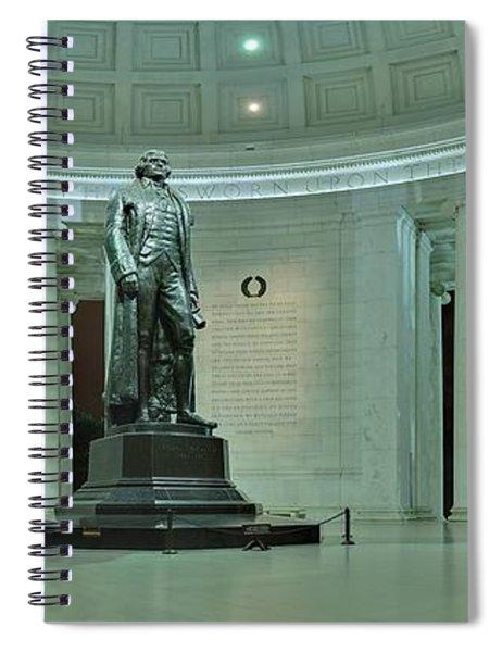 Inside The Jefferson Memorial Spiral Notebook