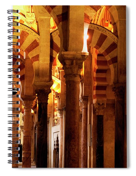 Spiral Notebook featuring the photograph Inside The Mezquita by Lorraine Devon Wilke